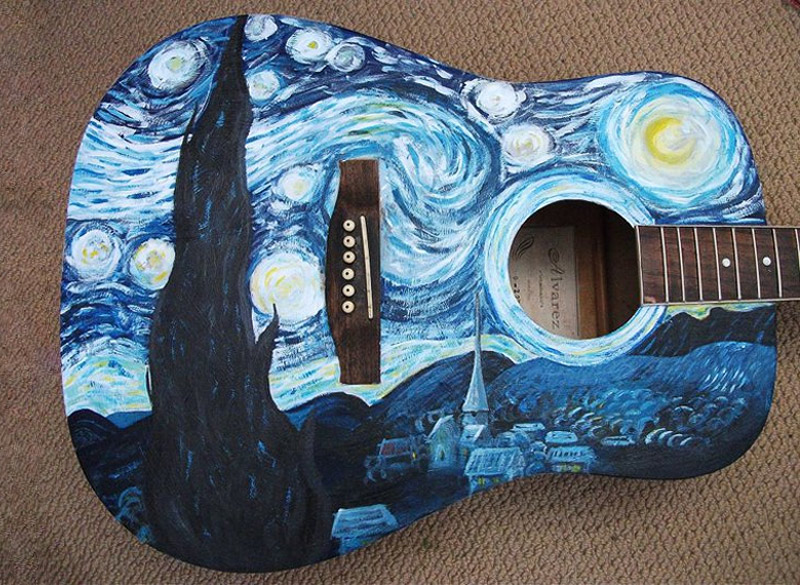 Vincent van Gogh guitar in its full glory