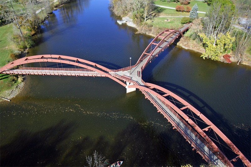 The Tridge aerial view