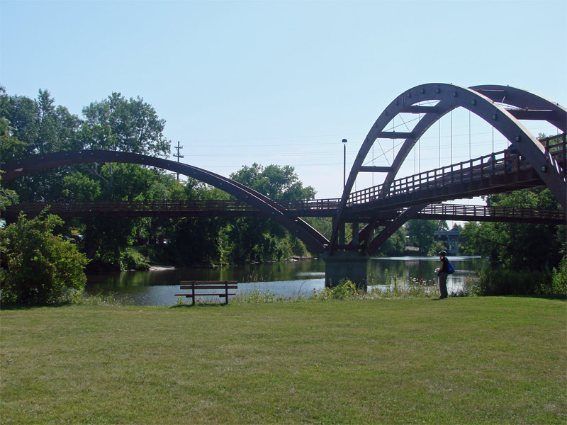 The Tridge, view from the park