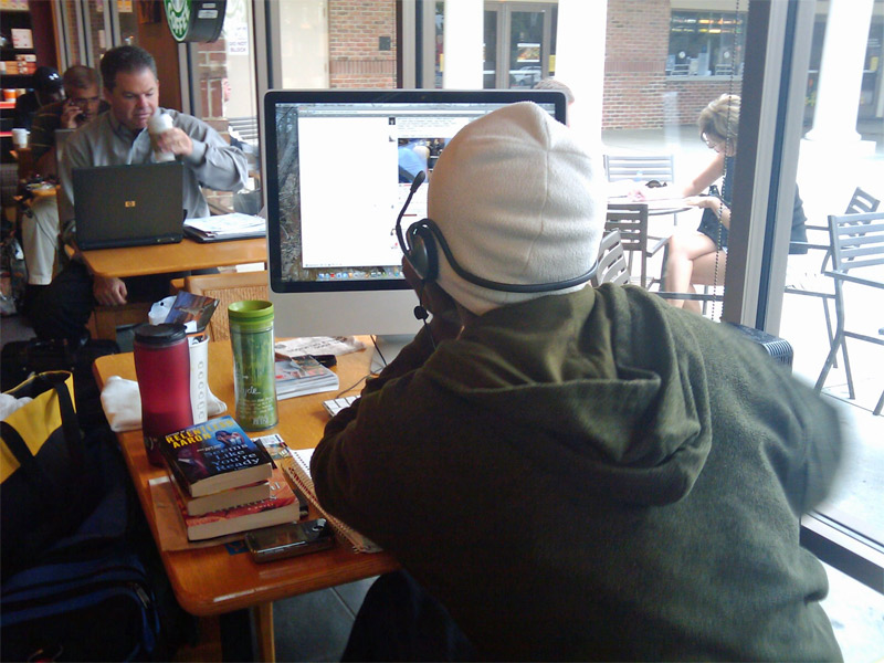1. The guy with the 24 inch iMac spotted in the Starbucks. Photo by Grant Robertson, 2009