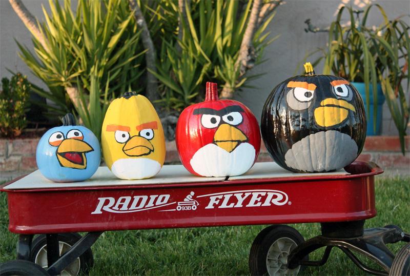 2. Angry Birds pumpkins