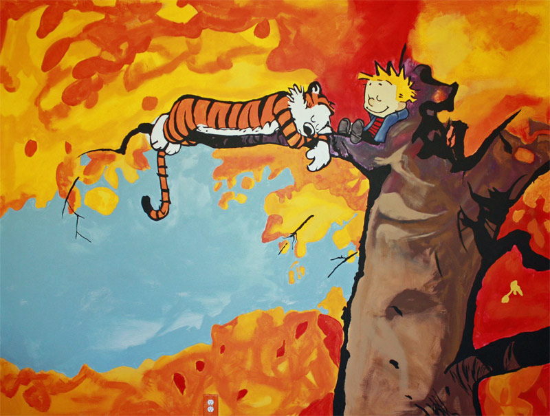 3. Another Calvin and Hobbes mural