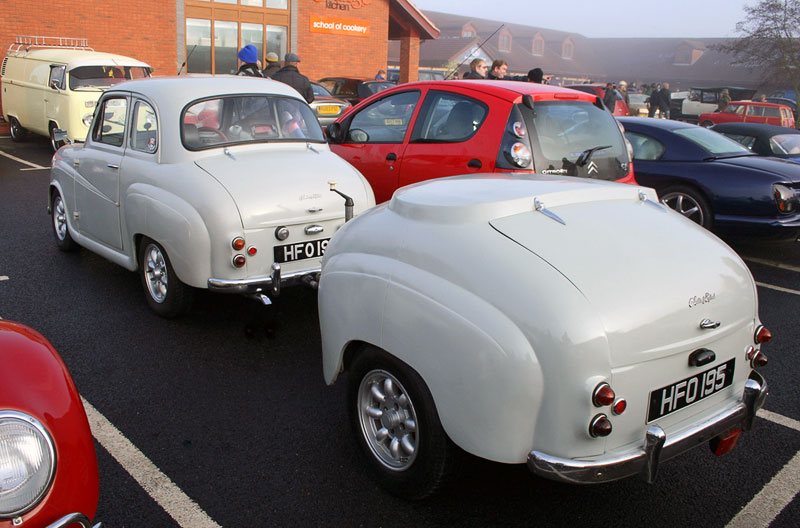 8. Austin A35 (built in 1957) with the matching white trailer. Photo by Martin Alford