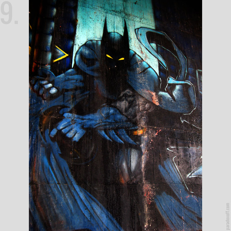 9. Batman graffiti