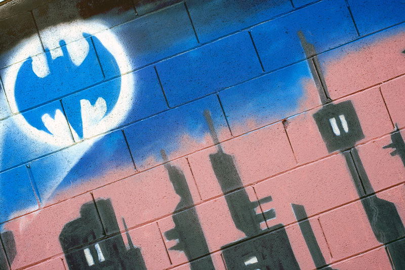 1. Batman sign graffiti
