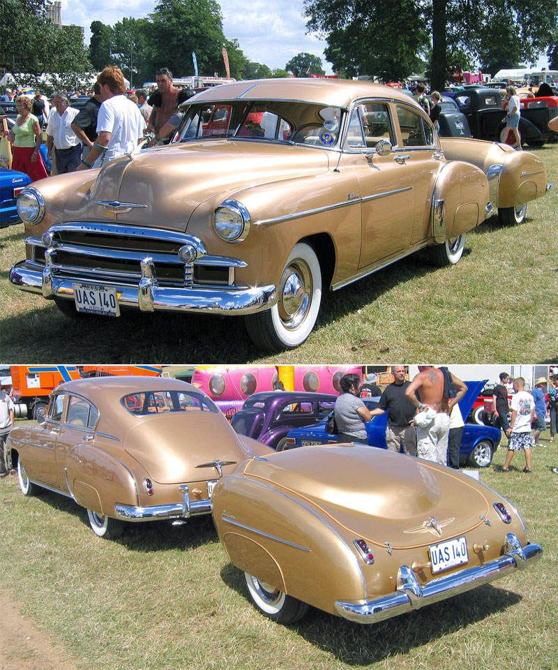 9. Bronze Chevrolet with the matching trailer