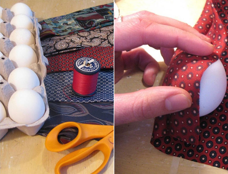 Color your eggs with the old silk ties. The how to