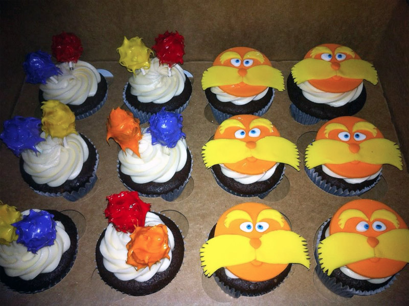 2. Dr. Seuss themed cupcakes