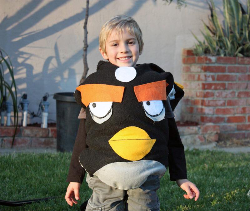 4. Happy boy in the Angry Bird Halloween costume
