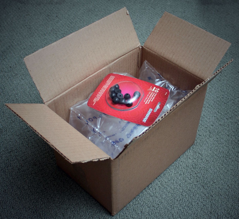 2. A huge box for the tiny earpieces