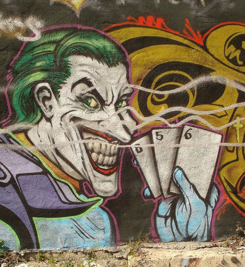 8. Joker graffiti