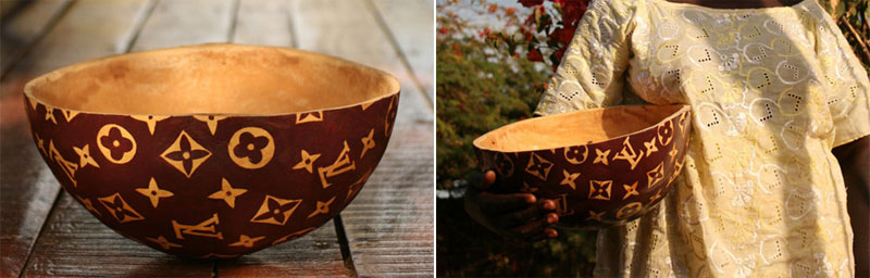 3. Louis Vuitton African calabash bowl. Photos by Sébastien Bouchard. Via TreeHugger