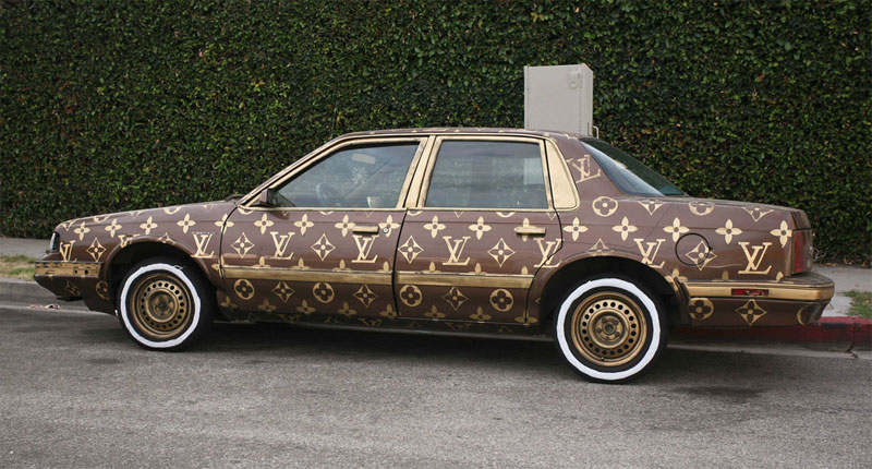 1. Louis Vuitton painted car
