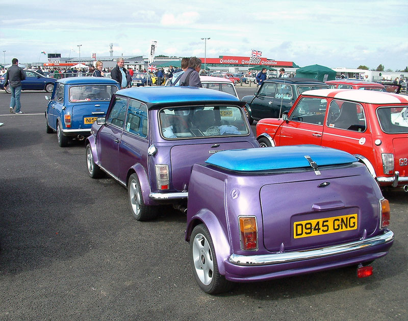 11. Mini with the mini trailer. Go, Britain!