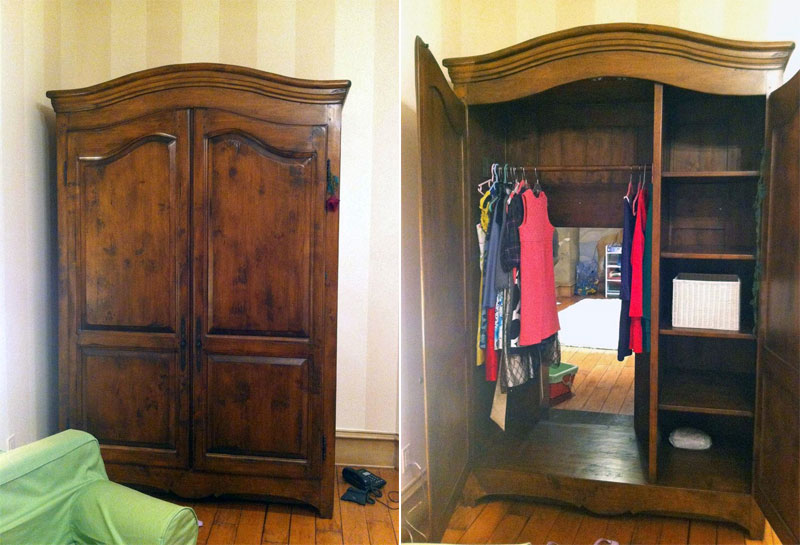 The entrance into the Narnia is inside the old wardrobe
