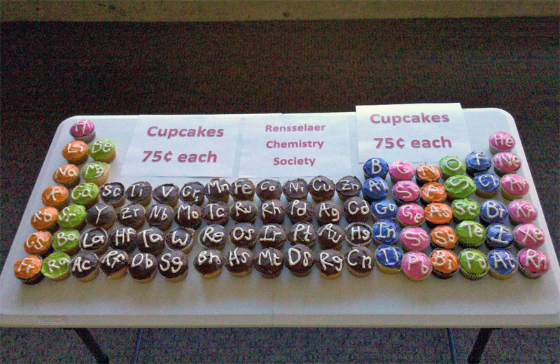 8. Another take on periodic table cupcakes