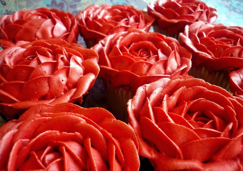 16. Rose petals shaped cupcakes. Photo by Liana Stevens, Star Bakery