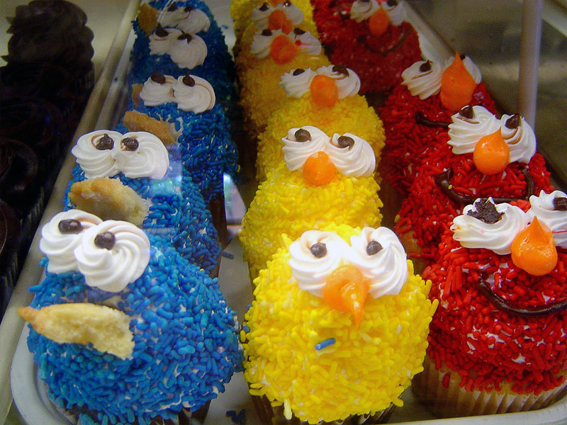 17. Sesame Street inspired cupcakes. Photo by Robyn Lee