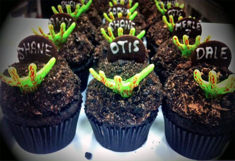 19. Walking Dead cupcakes