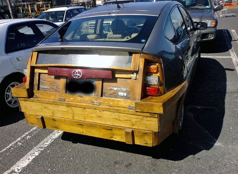 Wooden Toyota Prius
