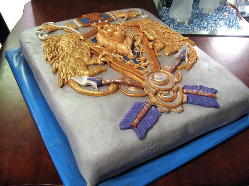2. Alliance crest cake