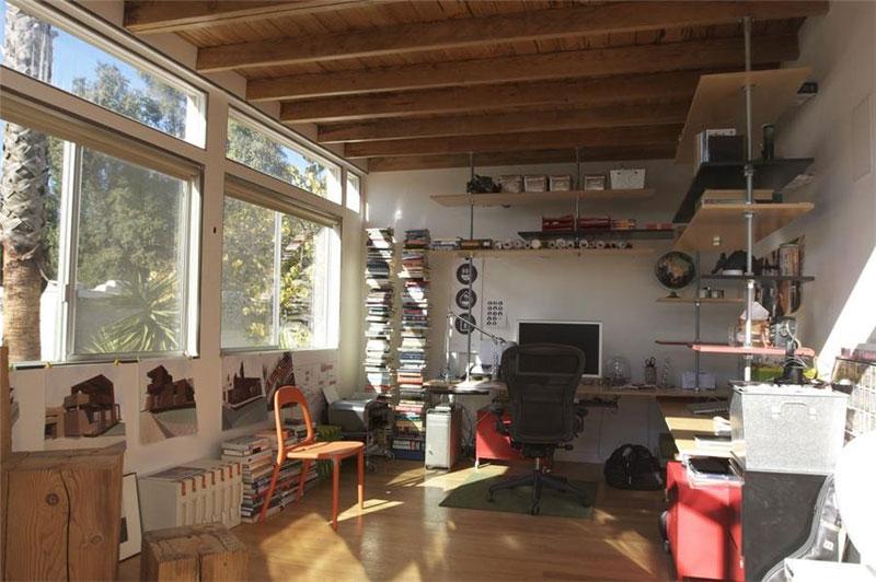 14. Brightly lit architect's shack