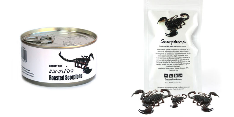 5. Canned smoked scorpions from Thailand