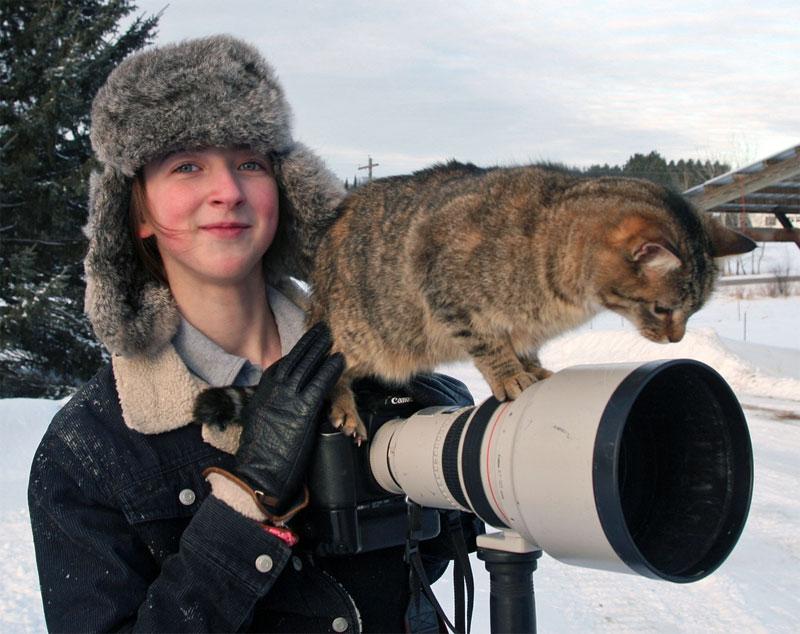 3. Some cats go pro with Canon