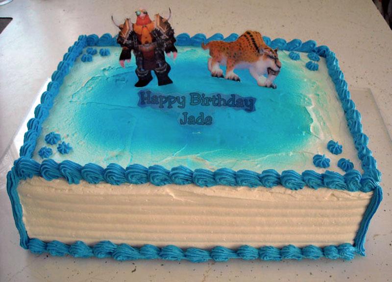 6. Dwarf hunter birthday cake