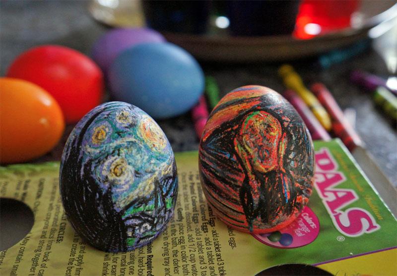 11. Van Gogh and Edvard Munch Easter eggs