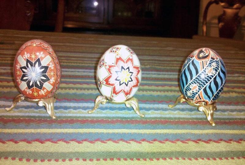 7. Lavishly decorated Easter eggs