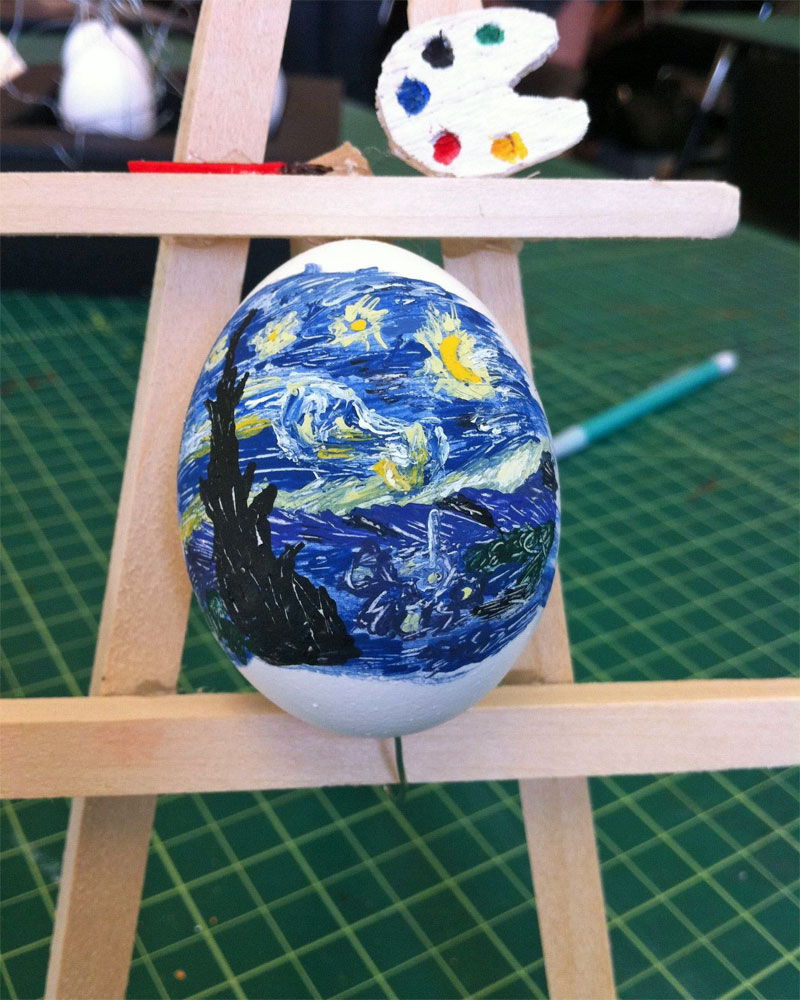 8. Van Gogh's Starry Night Easter egg