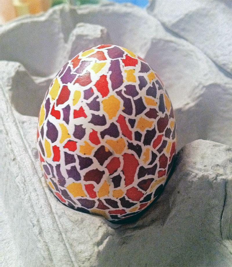 9. African pattern Easter egg