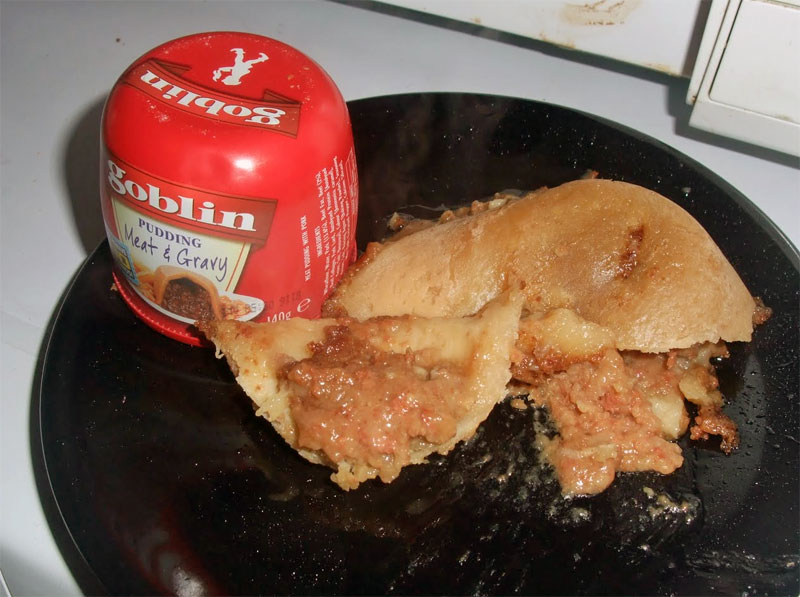 4. Goblin Meat and Gravy Pudding. It should be branded Troll
