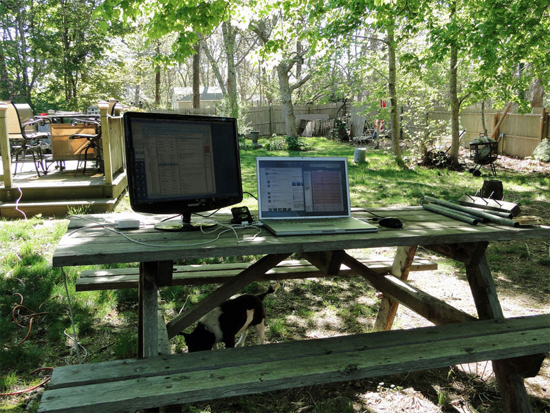 3. Home office gone outdoors