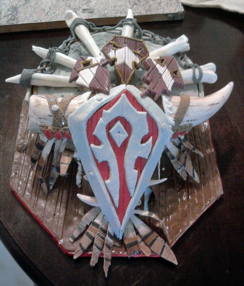 3. Horde shield cake