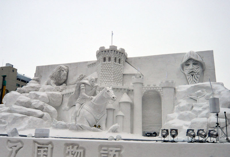 5. Snow horseman and the tower
