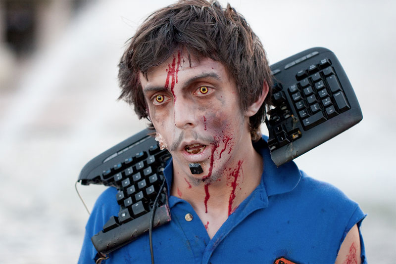 14. Keyboard zombie at the San Diego 2010 Zombie Walk. Photo by Nathan Rupert