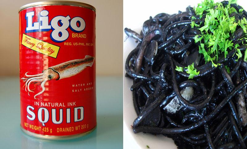 2. Ligo Squid in natural ink