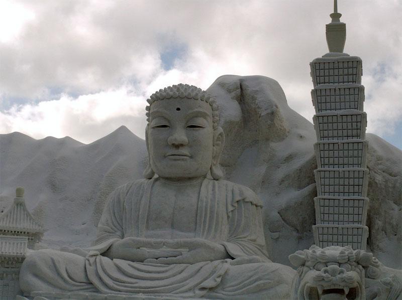 4. Snow Buddha. Photo by Angie Harms