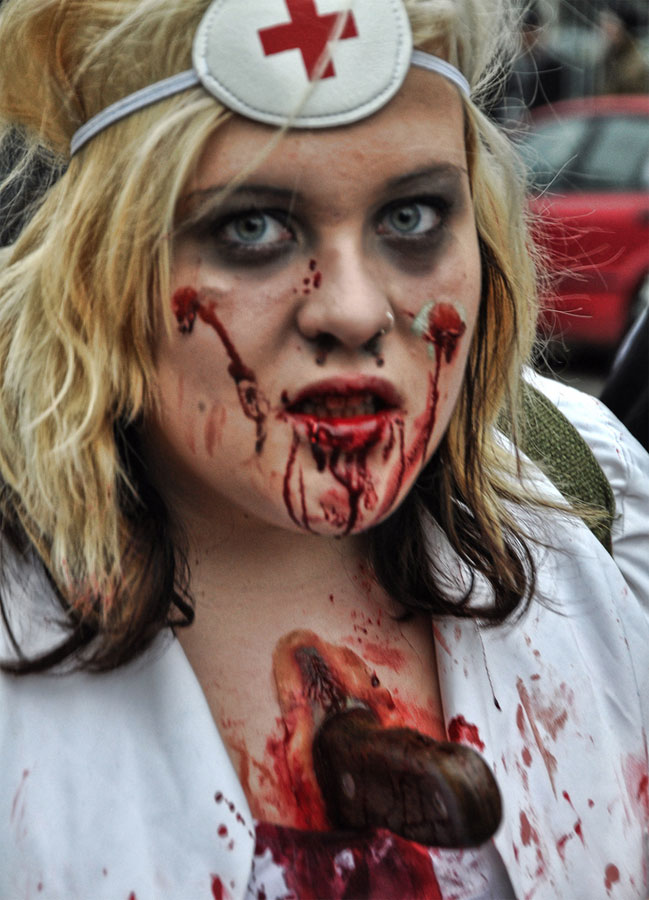 11. Stabbed nurse makeup. Photo Eric Parker