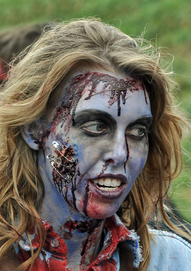 9. Great zombie makeup at Toronto 2009 Zombie Walk. Photo by Eric Parker