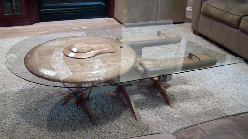 USS Enterprise coffee table created by Barry Shields