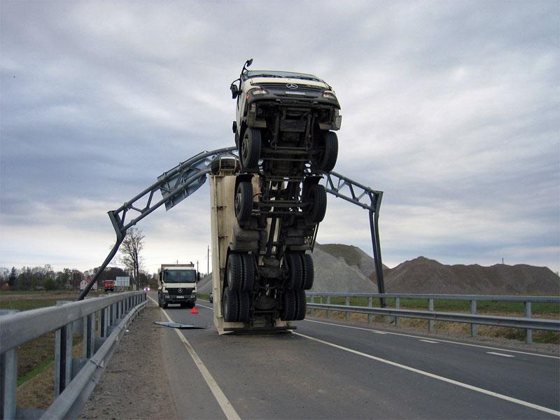 1. Stupid truck accident