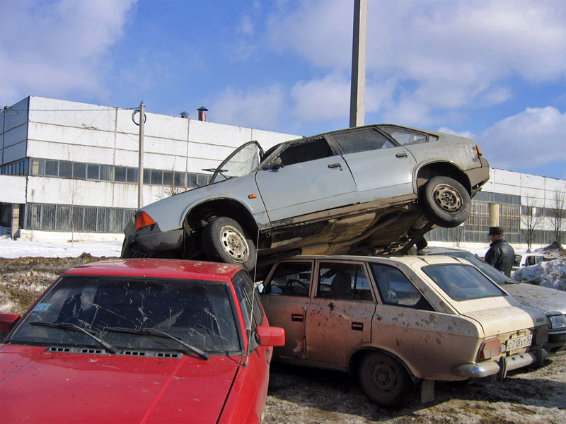 4. In Soviet Russia... you are parking in to layers