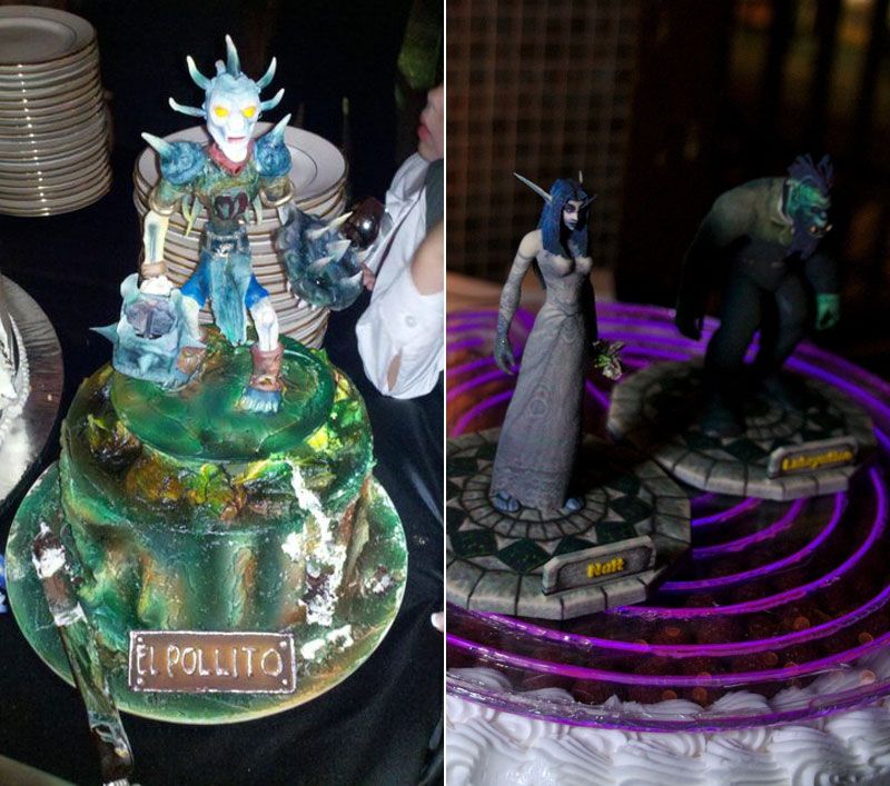 World of Warcraft wedding cakes