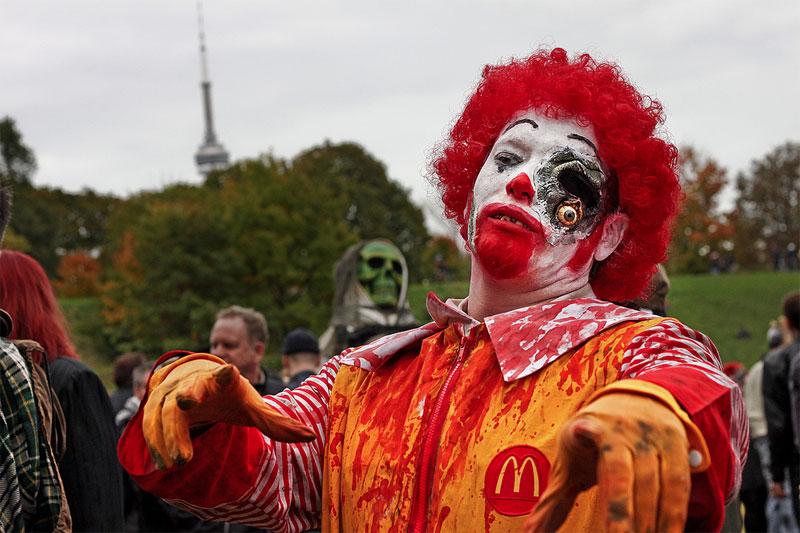 7. Zombie clown. Photo by Jackman Chiu