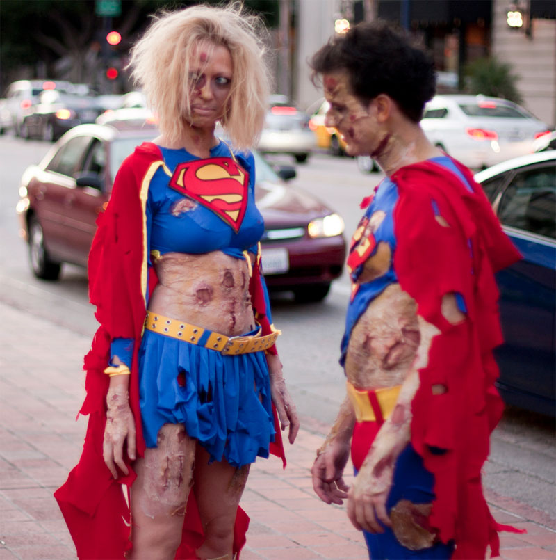 18. Zombie Supergirl and Superman. Photo by San Diego Shooter