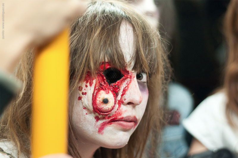 1. Awesome zombie makeup from the Zombie Walk in Madrid in 2011. Photo by Zumito