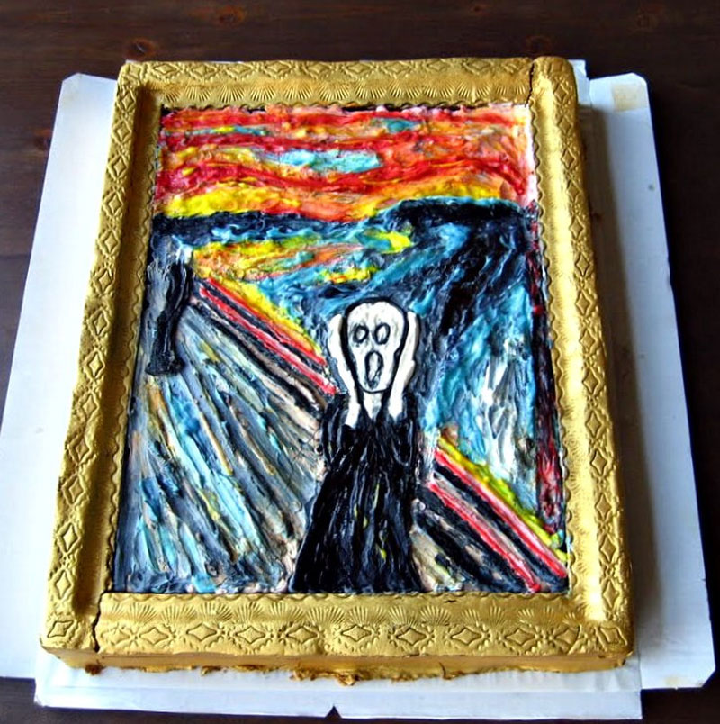 9. And another The Scream cake